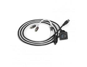 XMD-USB/3.5MM-PNL - Combo jack audio 3.5mm y USB 9 vías para montaje en panel