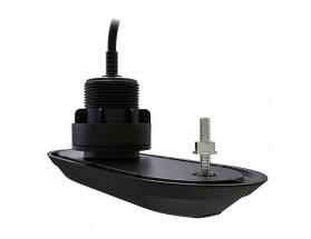 RV-320S, Transductor prof/temp RealVision 3D pasacascos plástico, 20º, estribor, para Axiom RV