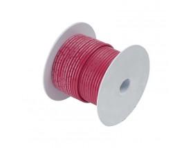 Cable estañado 1 mm2, 300 metros, rojo
