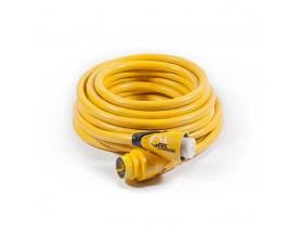 CS504-50 Cable eléctrico, 50A 125/250V. Rollo de cable eléctrico para toma de puerto en color amarillo.
