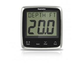 E70148 Sistema de profundimetro completo i50: Display y transductor. Proporciona información sobre la profundidad actual tanto en metros como en pies o brazas. Registra además las profundidades mínima y máxima encontradas.