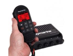 E70493 Ray91 Radio VHF con receptor AIS, en formato de caja negra con microteléfono. Vigile otros barcos de su grupo de navegación, controle embarcaciones de interés o gestione su flota local.