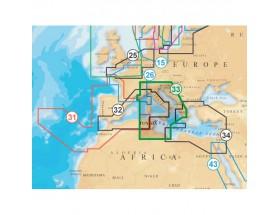 CF/33P+ cartografía en tarjeta CF XL3 33P+. Zona del Mediterráneo central