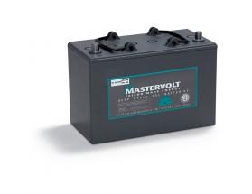 64000850Batería MVG (Gel) 12/85Ah. Con el electrolito en forma de gel la evaporación de éste es menor, por lo que aumenta su durabilidad y permite un mayor número de ciclos de carga y descarga. Vista en perspectiva lateral