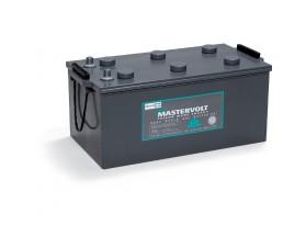 64002000 Batería MVG (Gel) 12/200Ah. Con el electrolito en forma de gel la evaporación de éste es menor, por lo que aumenta su durabilidad y permite un mayor número de ciclos de carga y descarga. Vista en perspectiva lateral
