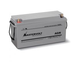 62001600 Batería AGM 12/160Ah, no requiere mantenimiento, tienen la capacidad de descargarse completamente cientos de veces. Vista en perspectiva de la parte frontal