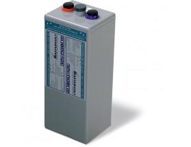 68000420 Vaso de gel MVSV de 2V-420Ah. Ideal para sistemas fotovoltaicos aislados. Vista en perspectiva lateral