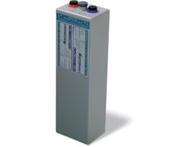 68000750 Vaso de gel MVSV de 2V-750Ah. Ideal para sistemas fotovoltaicos aislados. Vista en perspectiva lateral