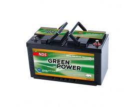 GP100 Batería AGM Green Power GP100B, 12V 100Ah. Batería de servicio de alto rendimiento, con tecnología AGM (fibra de vidrio absorbida) y diseñada para su uso en vehículos de servicio o de recreo.
