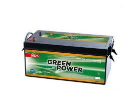 GP250 Batería AGM Green Power, 12V 250Ah. Batería de servicio de alto rendimiento, con tecnología AGM (fibra de vidrio absorbida) y diseñada para su uso en vehículos de servicio o de recreo.