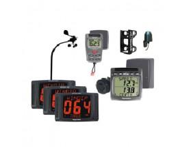 PP50-868 Pack Tacktick Performance 50. Incluye 3 displays, el transductor de viento, sistema inalámbrico de visualización de información, sistema inalámbrico de corredera y profundidad para velero, el transductor de compás y el soporte para 3 displays