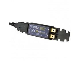 Cargador USB PowerVerter USB2, una salida, 12/24V, 2.1A. Fijo