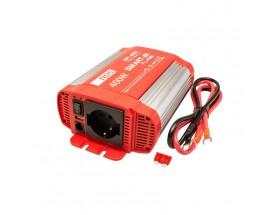 SP400-12 Convertidor Smart-in 230V/50-60Hz 12/400, onda pura. Analiza las cargas que existen en la salida del equipo para suministrar gradualmente la tensión requerida, evitando así el suministro de una potencia innecesaria