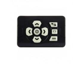 SPLR-3 Panel de control remoto con cable para luces Spot. Vista frontal del panel donde se aprecian los 8 botones de servicio
