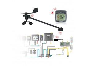 T70339 i60, sistema inalámbrico de viento con kit troncal Micro-Talk, vista frontal de todos los componentes.