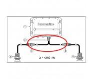 Cable adaptador para emparejar transductores B75 a módulo Chirp