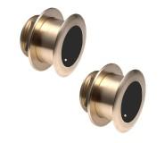 Par de transductores 1KW bronce pasacascos B175 20º